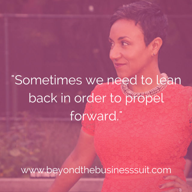 Lean Back, Propel Forward