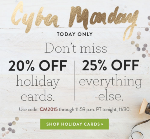 Minted.com Cyber Monday 2015